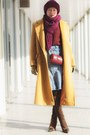 Brown-wool-halston-coat-maroon-wool-hand-made-hat