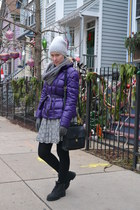 silver lazer cutout hazel skirt - purple Jacket jacket