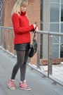 Black-wool-sonoma-coat-red-wool-scotland-sweater