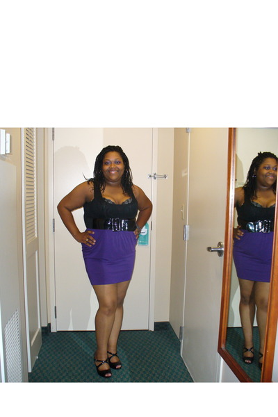 Target top - Target skirt - ashley stewart belt - naturalizer shoes - Cacique br