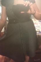 black Macys dress - black payless shoes - black Forever 21 belt