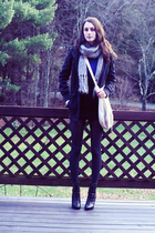 H&M scarf - H&M sweater - H&M skirt - H&M purse - payless shoes