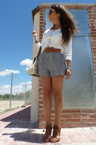 H&M jacket - Zara shoes - BLANCO shorts - Purificacion Garcia wallet