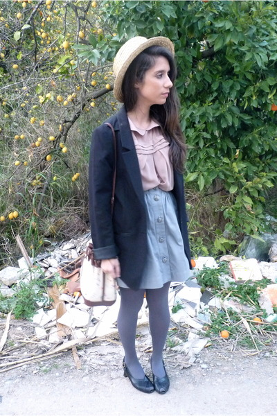 H&M blazer - Bimba & Lola bag - Primark blouse - Adolfo Dominguez skirt