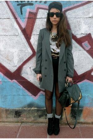 Bimba&Lola bag - balenciaga boots - Mango blazer - H&M shorts - H&M t-shirt
