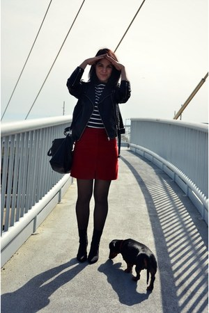 brick red kling skirt