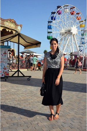 black asos skirt