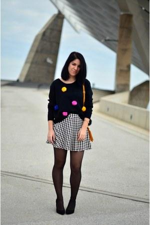 black DIY sweater