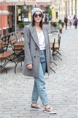 silver Zara coat