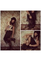 bowler hat Urban Outfitters hat - Libby Story skirt