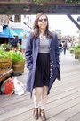 Dark-brown-leather-oxford-topshop-boots-navy-long-coat-marks-and-spencer-coat