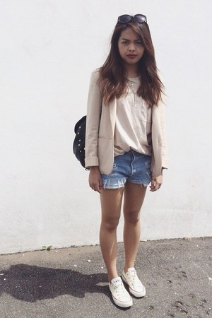 H&M blazer - Topshop bag - asos t-shirt