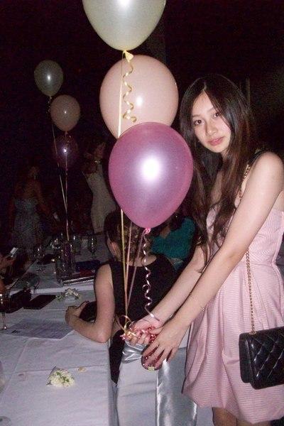 pink dress - black Chanel purse - beige shoes