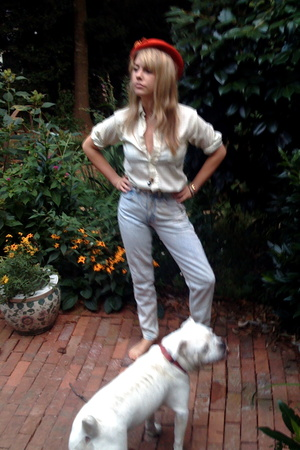 vintage hat - my moms shirt - calvin klein jeans