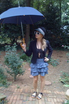 Urban hat - neiman marcus blazer - Lux skirt
