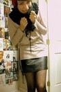 Black-target-skirt-black-forever-21-scarf