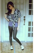moms blouse - Forever 21 accessories - Promod leggings