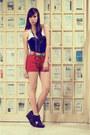 Red-the-second-shop-shorts-platform-soule-phenomenon-wedges-corset-soule-phe