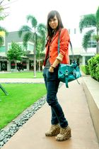 orange random blazer - Hong Kong jeans - Online shoes shoes - random top