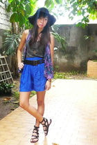 from greenhills top - Forever 21 hat - vintage scarf - prp shoes