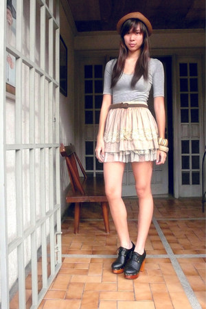 silver DIY necklace - Forever21 shoes