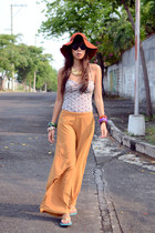 tankini Sassa top - floppy Forever21 hat - palazzo Bazaar pants