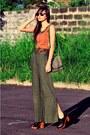 Tawny-corset-vintagentage-intimate-dark-brown-clogs-summersault-wedges-army-