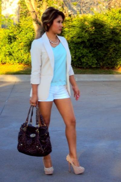 ff7ba82f7ff Charlotte Russe blazer - thrifted bag - Target shorts - Charlotte Russe  blouse