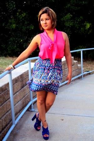 Target skirt - Target heels - Charlotte Russe blouse - Forever 21 bracelet