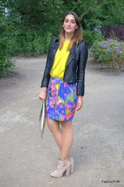 asos boots - storets jacket - H&M bag - asos top - H&M skirt