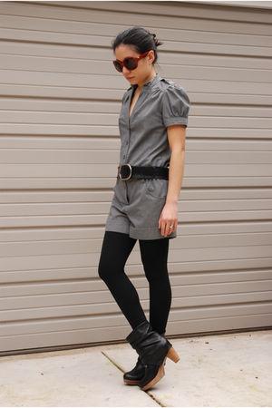 gray Topshop jumper - black coclico boots
