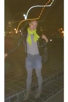 H & M jacket - Zara scarf - Marc by Marc Jacobs purse - Zara shoes