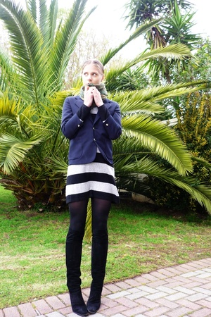 woolies blazer - H&M dress - vintage shoes