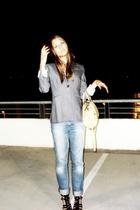 Club Monaco blazer - Levis jeans - Miu Miu purse