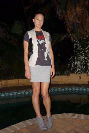 Zara vest - aa dress - Zoom shoes - vintage shirt