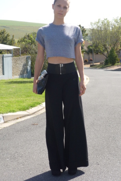 aa shirt - vintage belt - tracy reese pants - Zoom shoes