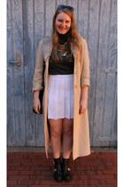 nude vintage coat - black zu boots - black Oroton sunglasses