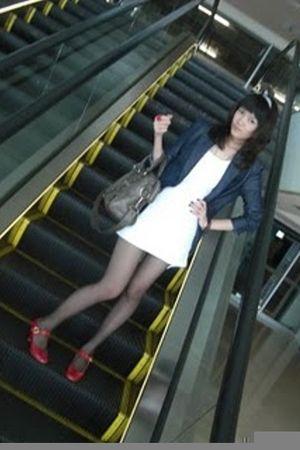 Zara jacket - Online store stockings - f21 dress - Aldo shoes - bag from Bangkok