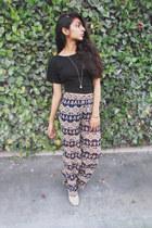 crop top Macys top - Kaitlyn pants - Topshop bracelet
