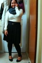 aa - joe fresh style top - Suzy Shier belt - Old Navy skirt - Celine shoes