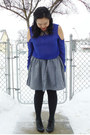 Black-aldo-shoes-dark-gray-ardene-socks-heather-gray-american-apparel-skirt