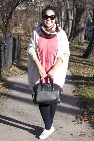 black Givenchy bag - salmon Zara dress - dark brown Urban scarf