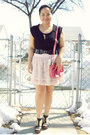 Salmon-matt-nat-purse-light-pink-h-m-skirt-dark-gray-deena-ozzy-belt