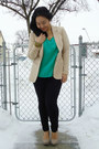 Beige-h-m-blazer-black-joe-fresh-style-pants-green-forever-21-top