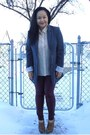 Maroon-forever-21-leggings-charcoal-gray-urban-planet-blazer