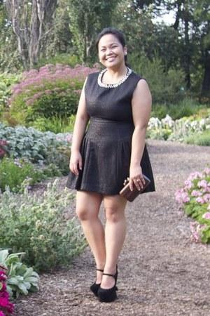 black Jeffrey Campbell shoes - black Forever 21 dress