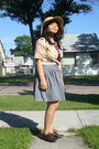 Beige-walmart-hat-white-juana-top-gray-american-apparel-skirt-brown-gojane