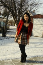 red Divi - black Walmart - brown Old Navy skirt - black Dynamite leggings - brow