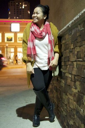 black Zara boots - light pink Gap sweater - black Marshalls leggings