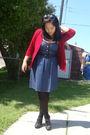 Red-divi-cardigan-blue-voom-by-joy-han-dress-black-payless-tights-black-al